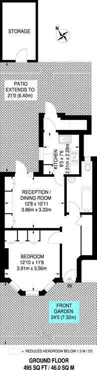 Large floorplan for Beresford Avenue, Alperton, HA0