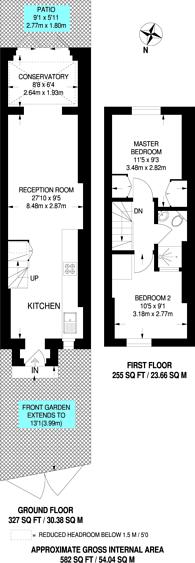 Large floorplan for Blenheim Grove, Peckham Rye, SE15