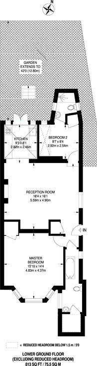 Large floorplan for Lancaster Road, Notting Hill, W11