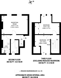 Large floorplan for Queenstown Road, Diamond Conservation Area, SW8