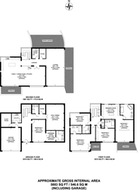 Large floorplan for Mount Road, Hook Heath, GU22