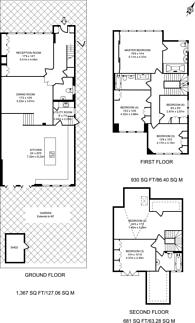Large floorplan for St Marys Avenue, Finchley, N3