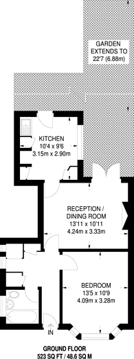 Large floorplan for Locket Road, Harrow Weald, HA3