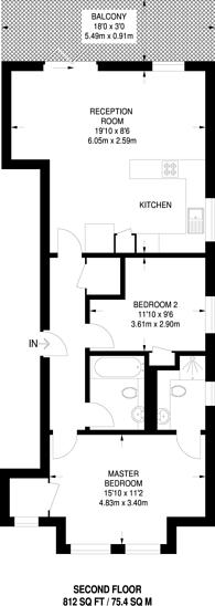 Large floorplan for Fontenoy Road, Bedford Hill, SW12