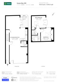 Large floorplan for Sussex Way, Archway, N19