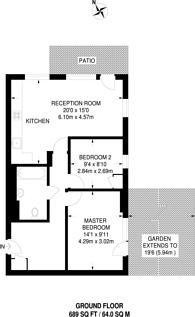 Large floorplan for Watson Place, South Norwood, SE25