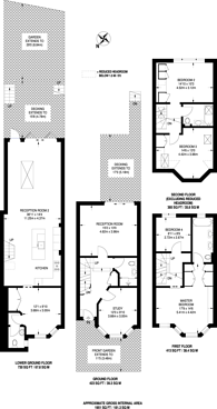 Large floorplan for Sydney Road, Muswell Hill, N10