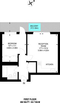 Large floorplan for Highbury Square, Highbury, N5