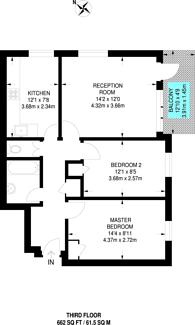 Large floorplan for Wanborough Drive, Roehampton, SW15
