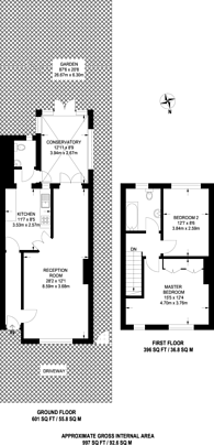 Large floorplan for Poplar Grove, New Malden, KT3
