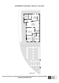 Large floorplan for Margravine Gardens, Barons Court, W6