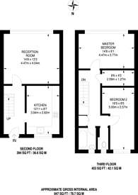Large floorplan for Whitton Walk, Bow, E3