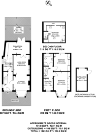 Large floorplan for Alder Grove, Dollis Hill, NW2