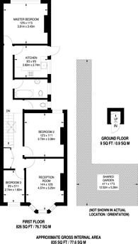 Large floorplan for Kinsale Road, Peckham, SE15