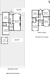Large floorplan for Beverley Way, Raynes Park, SW20