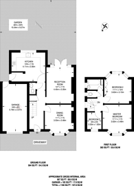Large floorplan for Westcoombe Avenue, Raynes Park, SW20