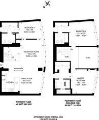 Large floorplan for Wes India Quay, Canary Wharf, E14