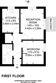 Large floorplan for Widmore Road, Bromley, BR1