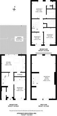 Large floorplan for Hornby Close, Swiss Cottage, NW3