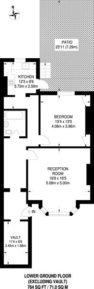 Large floorplan for Beresford Road, Highbury, N5