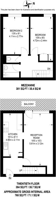 Large floorplan for Elephant and Castle, Elephant and Castle, SE1