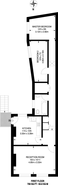 Large floorplan for Battersea Rise, Between the Commons, SW11