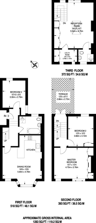Large floorplan for Rush Hill Road, Clapham Common North Side, SW11