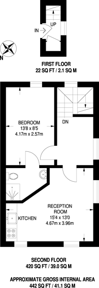Large floorplan for Prebend Street, Angel, N1