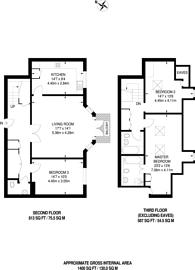 Large floorplan for Nursery Road, Wimbledon, SW19