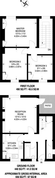 Large floorplan for Ealing Road, Brentford, TW8