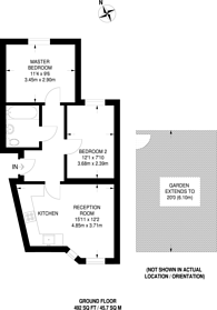 Large floorplan for Cloister Road, Acton, W3