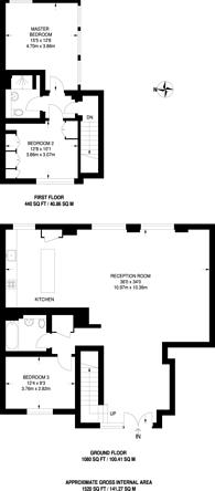 Large floorplan for City Pavillion, Shoreditch, E2