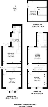Large floorplan for George Road, Guildford, GU1