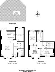 Large floorplan for Richmond Grove, Islington, N1