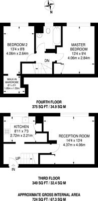 Large floorplan for Ham Close, Ham, TW10