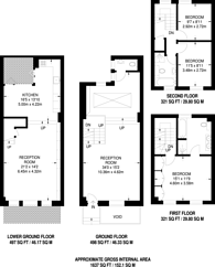 Large floorplan for Broadley Street, Marylebone, NW8