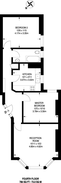 Large floorplan for Fulham Road, Fulham, SW6