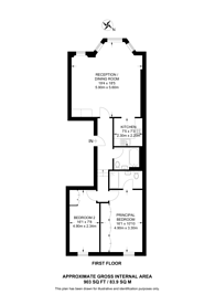 Large floorplan for Westgate Terrace, Chelsea, SW10