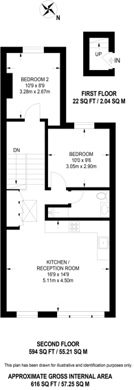 Large floorplan for Edith Grove, Chelsea, SW10
