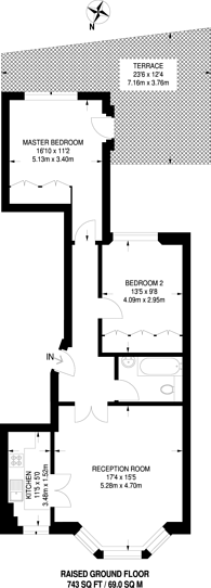 Large floorplan for Manson Place, South Kensington, SW7