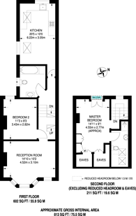 Large floorplan for Townmead Road, Fulham, SW6
