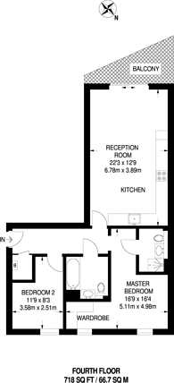 Large floorplan for Clock View Crescent, Islington, N7