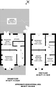 Large floorplan for Huxley Gardens, Park Royal, NW10