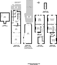 Large floorplan for Richmond Road, Kingston, KT2