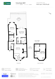 Large floorplan for Trinity Road, Tooting Bec, SW17