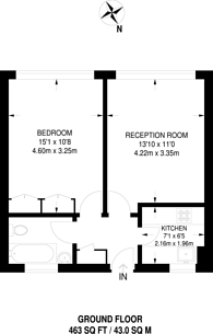 Large floorplan for Pullman Court, Streatham Hill, SW2
