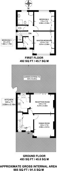 Large floorplan for Noel Road, Acton, W3