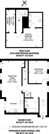Large floorplan for Highbury Park, Islington, N5