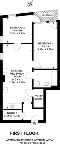 Large floorplan for Greencoat Place, Westminster, SW1P