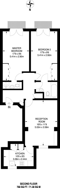 Large floorplan for Queens Gate Terrace, South Kensington, SW7